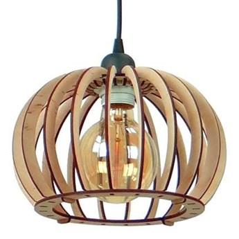 LAMPA wisząca 137623612724 TEAM drewniana OPRAWA ekologiczna klatka zwis kula ball