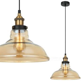 Loftowa LAMPA wisząca HUBERT MDM-2381/1 GD+AMB Italux szklana OPRAWA skandynawski ZWIS bursztynowy
