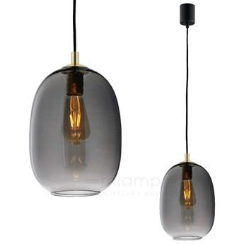 Skandynawska LAMPA wisząca ONYX 10891108 Kaspa loftowa OPRAWA szklany ZWIS hygge złoty grafitowy czarny