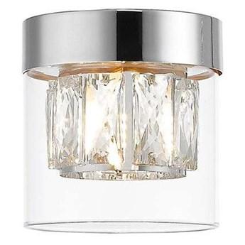 Plafon LAMPA glamour GEM C0389-01A-F4AC Zumaline sufitowa OPRAWA szklana z kryształkami okrągła chrom przezroczysta