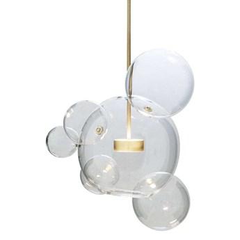 Wisząca LAMPA skandynawska CGBUBBLE6 COPEL szklana OPRAWA loftowy ZWIS kula LED 14W 3000K ball przezroczysta mosiądz