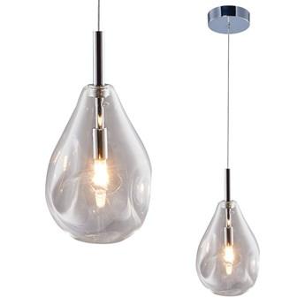 LAMPA wisząca BASTONI MD1921-1-CLEAR Zumaline loftowa OPRAWA szklany ZWIS łezka kropla drop chrom przezroczysta