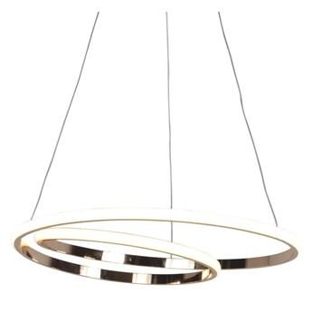 LAMPA wisząca K-8048 Kaja spirala OPRAWA okrągła LED 45W 4000K zwis metalowy różowe złoto