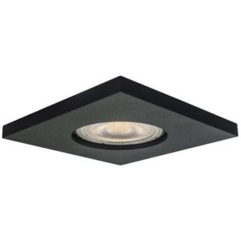 Sufitowa LAMPA wpuszczana LAGOS LP-440/1RS BK square Light Prestige metalowa OPRAWA kwadratowa WPUST podtynkowy IP65 czarna