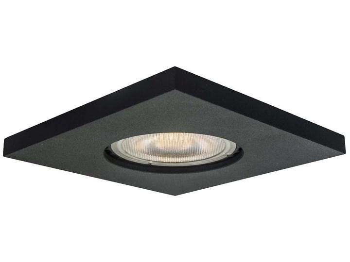 Sufitowa LAMPA wpuszczana LAGOS LP-440/1RS BK square Light Prestige metalowa OPRAWA kwadratowa WPUST podtynkowy IP65 czarna Oprawa stropowa Kolor Czarny Oprawa led Oprawa wpuszczana Kwadratowe Kategoria Oprawy oświetleniowe