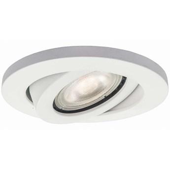 Sufitowa LAMPA podtynkowa LAGOS LP-440/1RS WH movable Light Prestige okrągła OPRAWA metalowa wpust biała