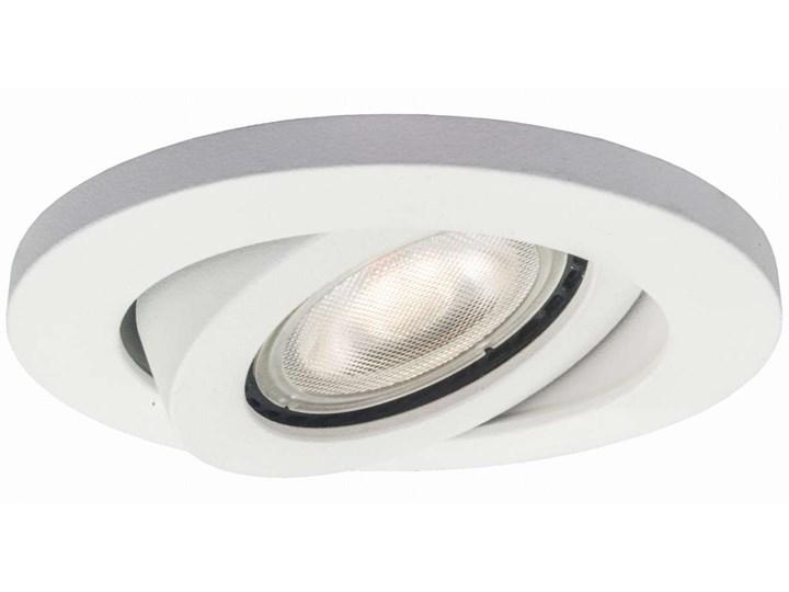Sufitowa LAMPA podtynkowa LAGOS LP-440/1RS WH movable Light Prestige okrągła OPRAWA metalowa wpust b ...