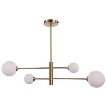 LAMPA sufitowa DORADO LP-002/4P Light Prestige loftowa OPRAWA 4-punktowy metalowy plafon molekuły szklane kule złote białe