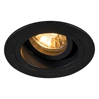 Wpuszczana LAMPA sufitowa CHUCK DL ROUND 92700 Zumaline okrągła OPRAWA do zabudowy WPUST metalowy czarny