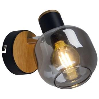 Loftowa LAMPA ścienna FUMOSO 1350022 Nave szklana OPRAWA regulowany kinkiet czarny przydymiony