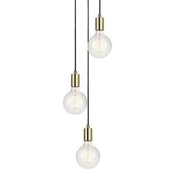 LAMPA wisząca SKY 106333 Markslojd metalowa OPRAWA zwis KASKADA przewody kable mosiądz