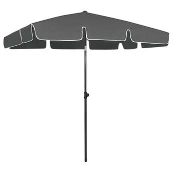 vidaXL Parasol plażowy, antracytowy, 200x125 cm