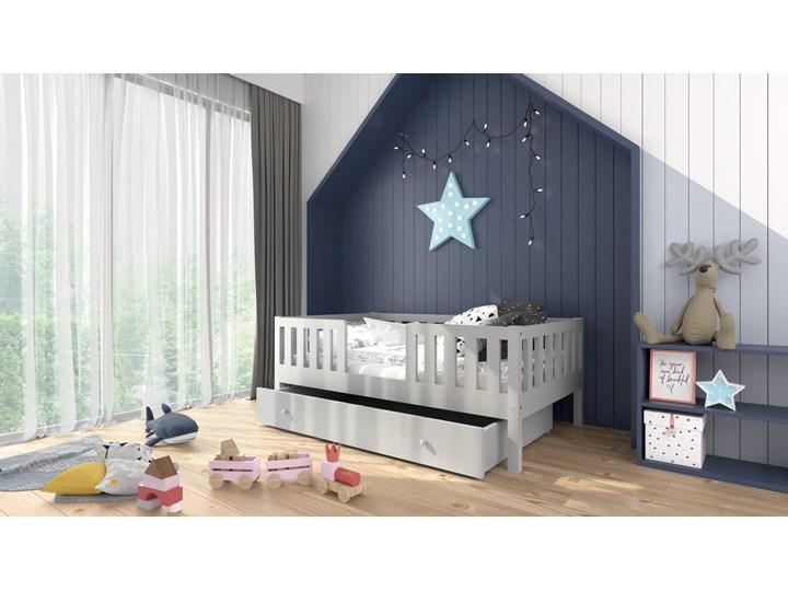 Łóżeczko RYŚ Classic   z pojedynczą szufladą, szary Drewno Kategoria Łóżka dla dzieci