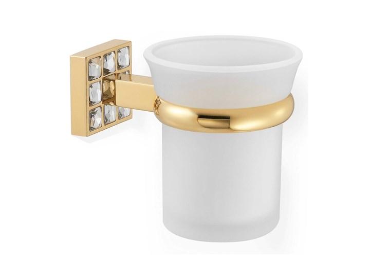 Złoty Kubek na szczoteczki naścienny Prestige 5501