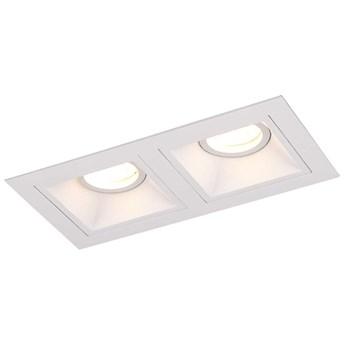Podtynkowa LAMPA sufitowa HIT II H0081 Maxlight prostokątna OPRAWA wpust do zabudowy biały