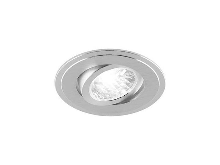 Wpuszczana LAMPA sufitowa ALUM C 03096 Ideus okrągła OPRAWA do zabudowy srebrna