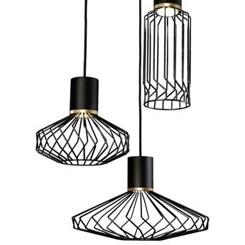 LAMPA wisząca PICO 8863 Nowodvorski metalowa OPRAWA industrialny ZWIS druciane klatki kaskada czarna