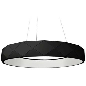 Wisząca LAMPA geometryczna REUS LP-8069/1P LEDBK Light Prestige metalowa OPRAWA okrągła LED 36W 4000K pierścień zwis czarny