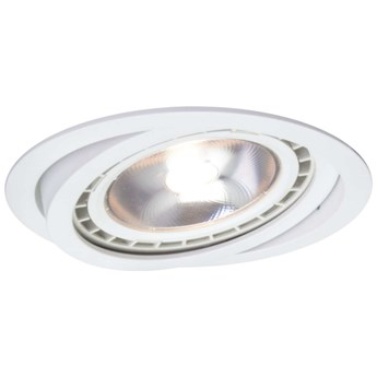 Sufitowa LAMPA podtynkowa NERO LP-4424/1RS WH Light Prestige metalowa OPRAWA okrągły WPUST do zabudowy movable biały