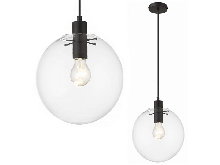 Loftowa LAMPA wisząca PUERTO LP-004/1P M BK Light Prestige skandynawska OPRAWA szklany ZWIS kula bal ...