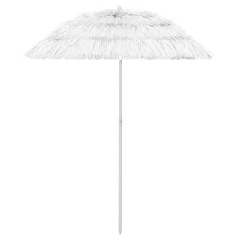 vidaXL Parasol plażowy, biały, 180 cm