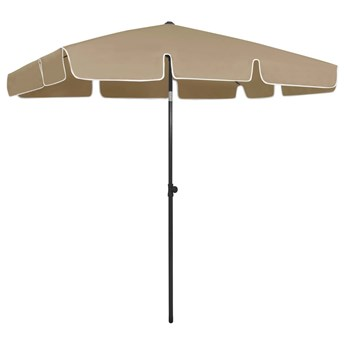 vidaXL Parasol plażowy, taupe, 200x125 cm