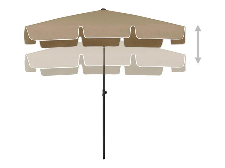 vidaXL Parasol plażowy, taupe, 200x125 cm Kategoria Parasole ogrodowe