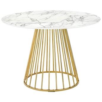 Stół na drucianej podstawie Glam Marble 110 imitacja marmuru