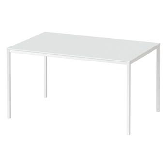 Biały stół do jadalni z nierozkładanym blatem Family 140