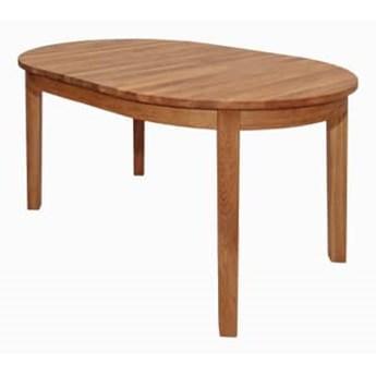 Stół drewniany, dębowy owalny rozkładany Ovum