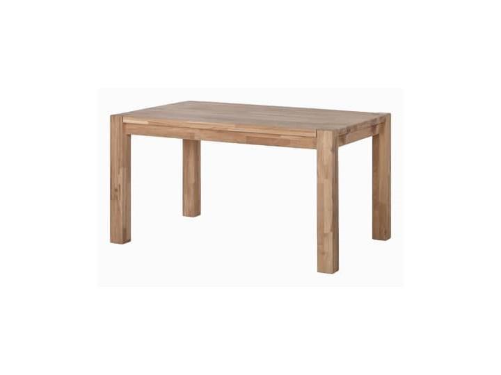 Stół drewniany, dębowy Roland Długość 140 cm  Długość 160 cm  Drewno Długość 180 cm  Szerokość 80 cm Wysokość 75 cm Długość 120 cm  Szerokość 90 cm Pomieszczenie Stoły do salonu