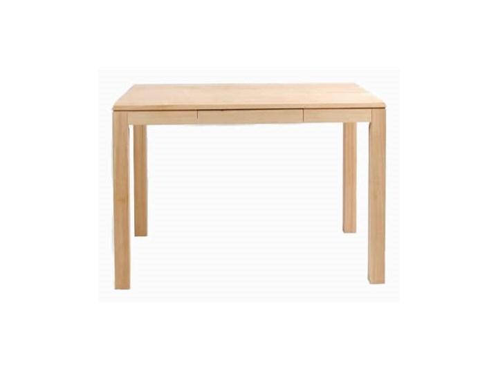 Stół drewniany, dębowy kuchenny Total z szufladą Wysokość 75 cm Drewno Długość 110 cm  Szerokość 70 cm Długość 130 cm  Kategoria Stoły kuchenne
