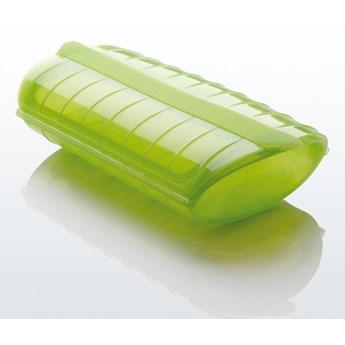 Naczynie żaroodporne z tacą - małe, zielone
