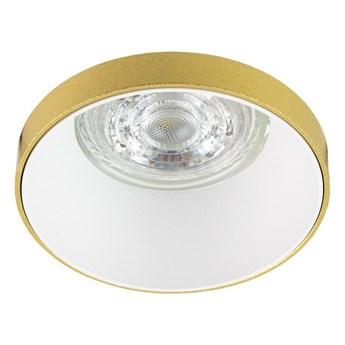 Punktowa oprawa sufitowa wpuszczana LIRA W Gold IP20 okrągła złota, środek biały EDO777324 EDO