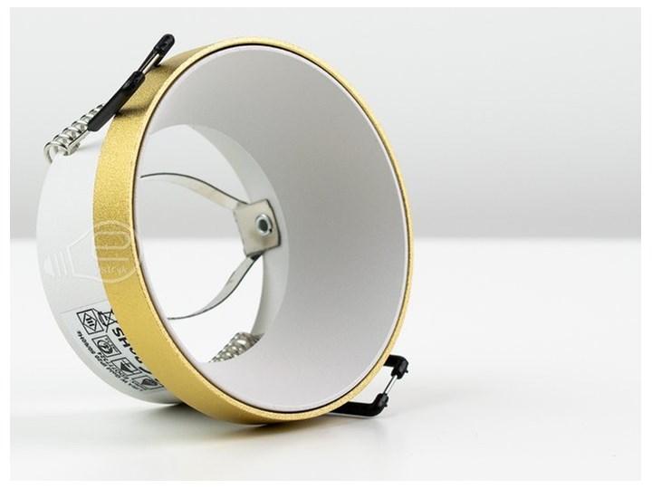 Punktowa oprawa sufitowa wpuszczana LIRA W Gold IP20 okrągła złota, środek biały EDO777324 EDO Okrągłe Oprawa wpuszczana Oprawa stropowa Kolor Złoty