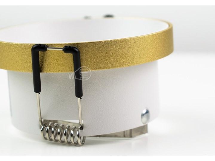 Punktowa oprawa sufitowa wpuszczana LIRA W Gold IP20 okrągła złota, środek biały EDO777324 EDO Okrągłe Oprawa stropowa Kolor Złoty Oprawa wpuszczana Kategoria Oprawy oświetleniowe