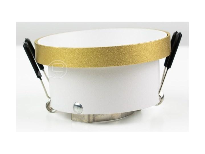 Punktowa oprawa sufitowa wpuszczana LIRA W Gold IP20 okrągła złota, środek biały EDO777324 EDO Okrągłe Oprawa stropowa Oprawa wpuszczana Kolor Złoty