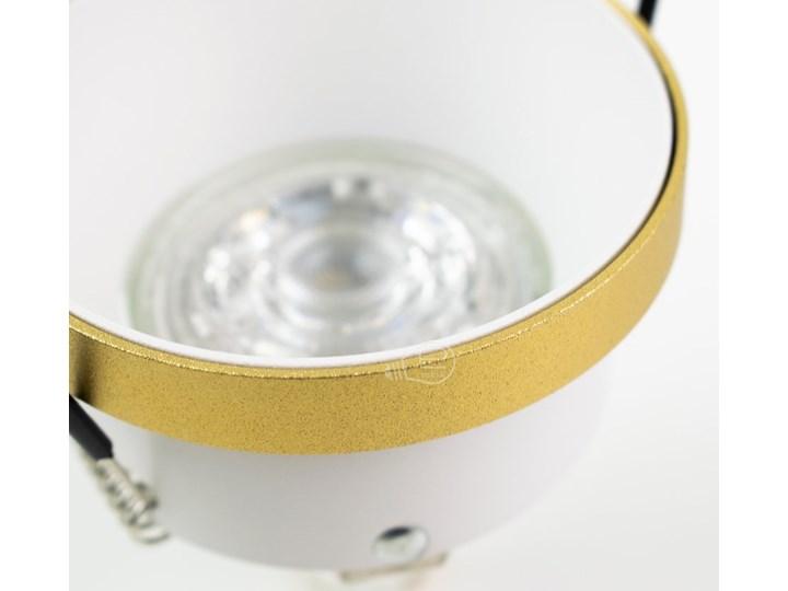 Punktowa oprawa sufitowa wpuszczana LIRA W Gold IP20 okrągła złota, środek biały EDO777324 EDO Oprawa wpuszczana Oprawa stropowa Okrągłe Kolor Złoty