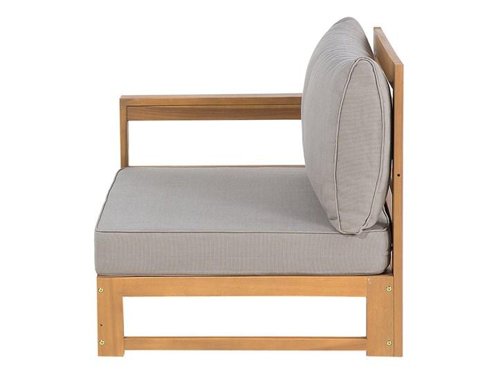 Zestaw mebli ogrodowych jasne drewno akacjowe narożnik szare poduszki stolik kawowy Zestawy kawowe Zestawy modułowe Kategoria Zestawy mebli ogrodowych Zestawy wypoczynkowe Styl Nowoczesny