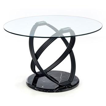 Okrągły stół do salonu Azis - czarny