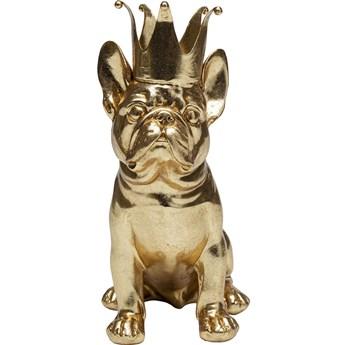 Figurka dekoracyjna Crowned Dog 19x24 cm złota