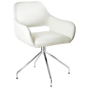 Krzesło obrotowe Talia 58x82 cm białe