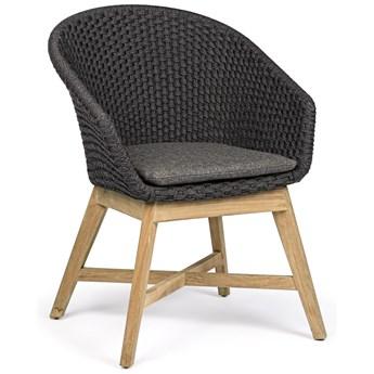 Krzesło ogrodowe Coachella 64x85 cm grafitowe