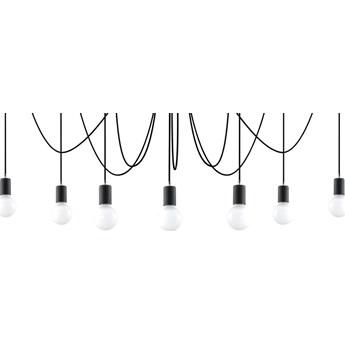 Lampa wisząca Edison 7 300 cm czarna