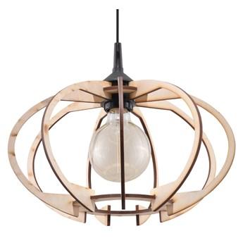 Lampa wisząca Mandelino 35x90 cm drewniana