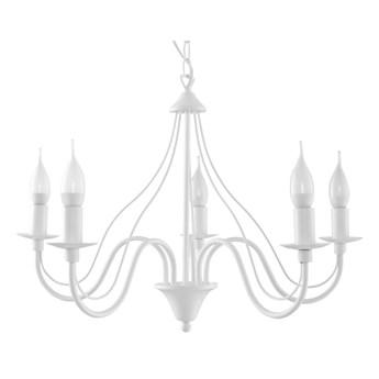 Lampa wisząca Minerwa 60x80 cm 5 L biała