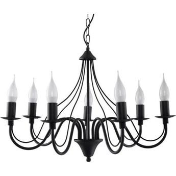 Lampa wisząca Minerwa 60x80 cm 7 L czarna