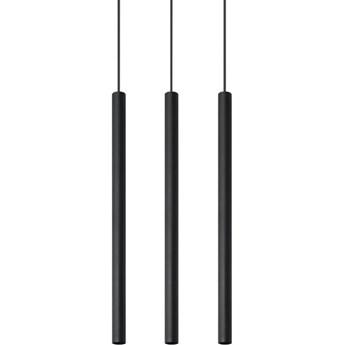 Lampa wisząca Pastelo 3 30x100 cm czarna