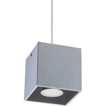 Lampa wisząca Quad 10x80 cm szara