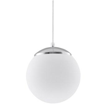 Lampa wisząca Ugo ∅20x80 cm srebrno-biała